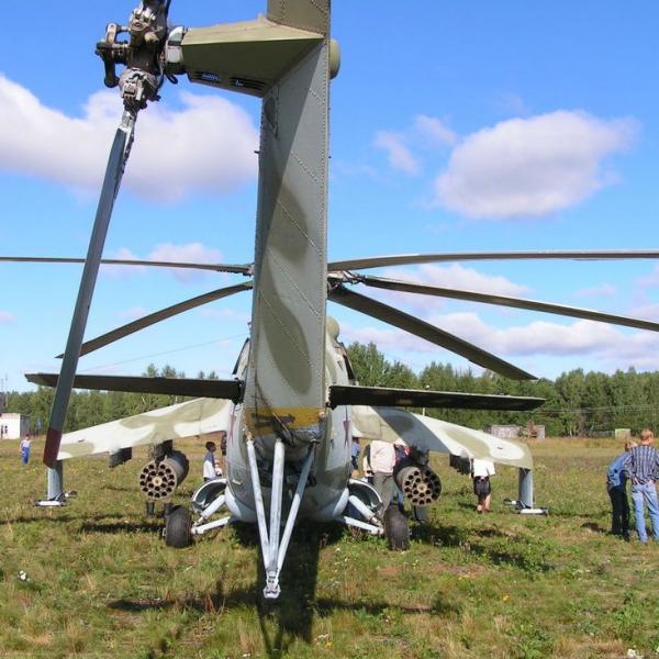 7.Ми-24В. Вид сзади.