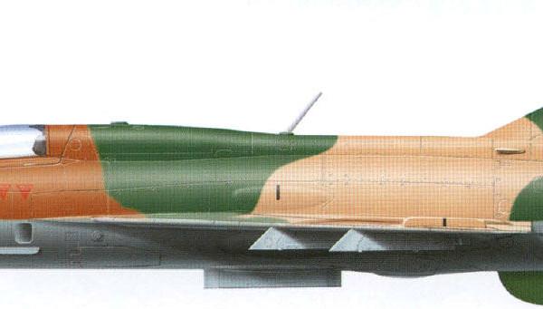 7.МиГ-21ФЛ ВВС Индии. Рисунок. 1