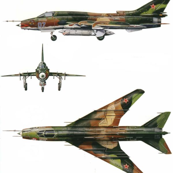 7.Проекции Су-17М4. Рисунок.