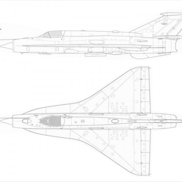 7в.МиГ-21И-2. Схема 1.