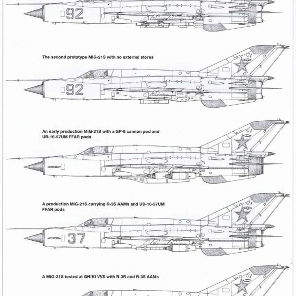 8.МиГ-21С. Схема.