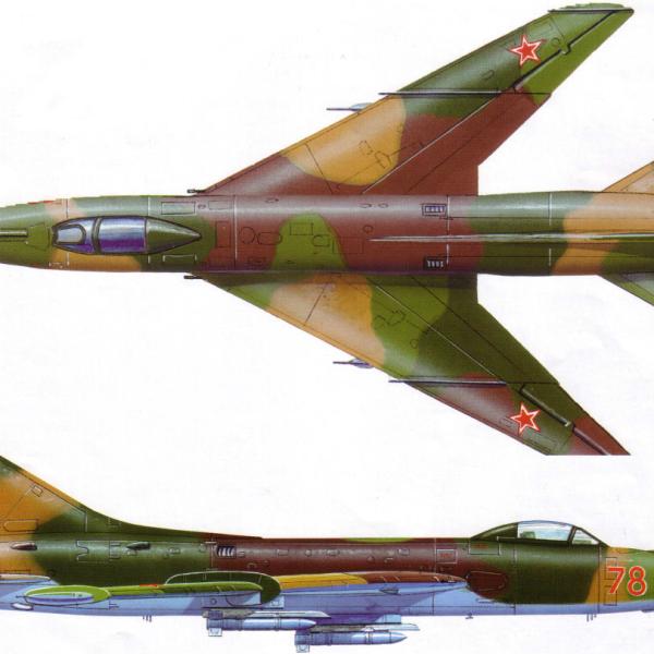 8.Проекции Су-7БМ. Рисунок.