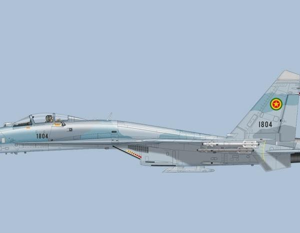 8.Су-27СК ВВС Эфиопии. Рисунок.