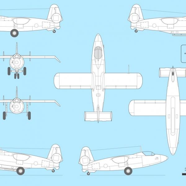 9.Самолет 4302. Схема 2.