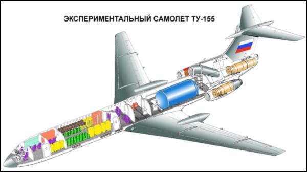 Компоновочная схема Ту-155.