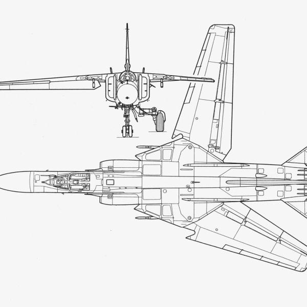 МиГ-23МЛД. Схема 2.