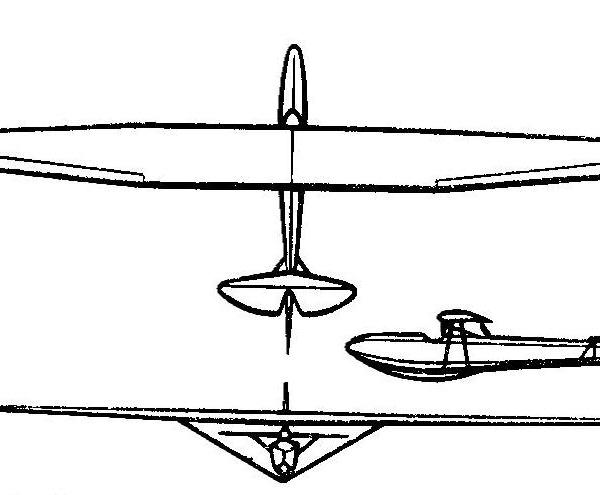 Планер Бриз-2. Схема