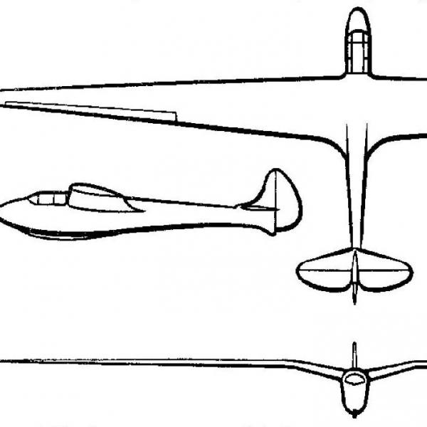 Планер ЭФ-2. Схема