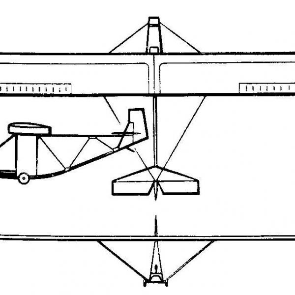 Планер Фламинго. Схема