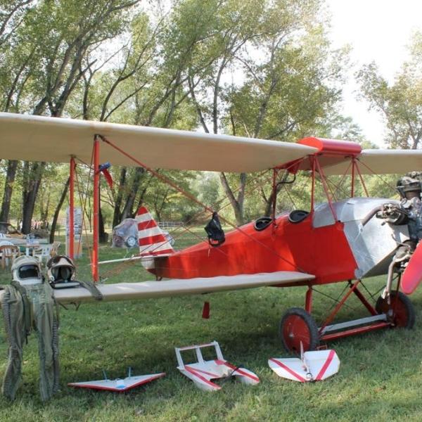 Реплика самолета АИР-2 построена в городе Невинномысске в 1998 году.