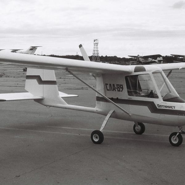 1.Легкий самолет Оптимист. СЛА-89. Рига, 1989 г.
