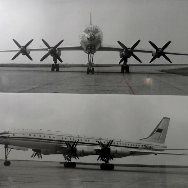 1.Опытный Ту-114.