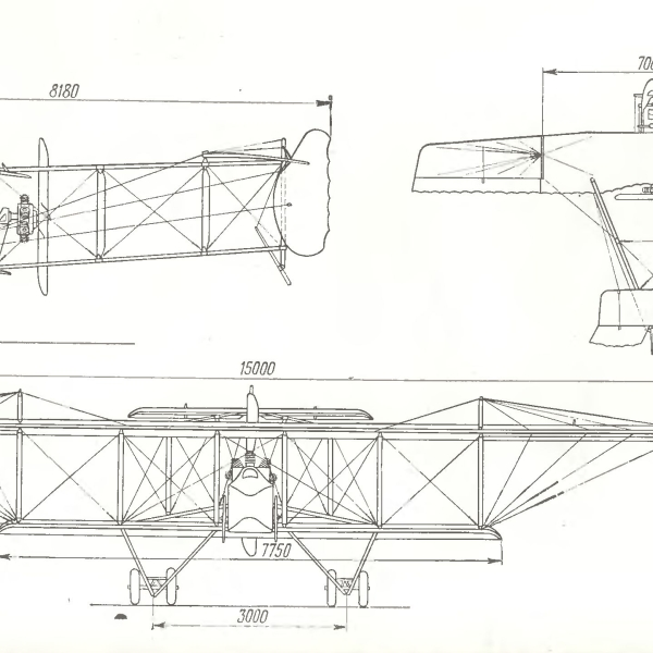 10.Farman F.XXII. Схема.
