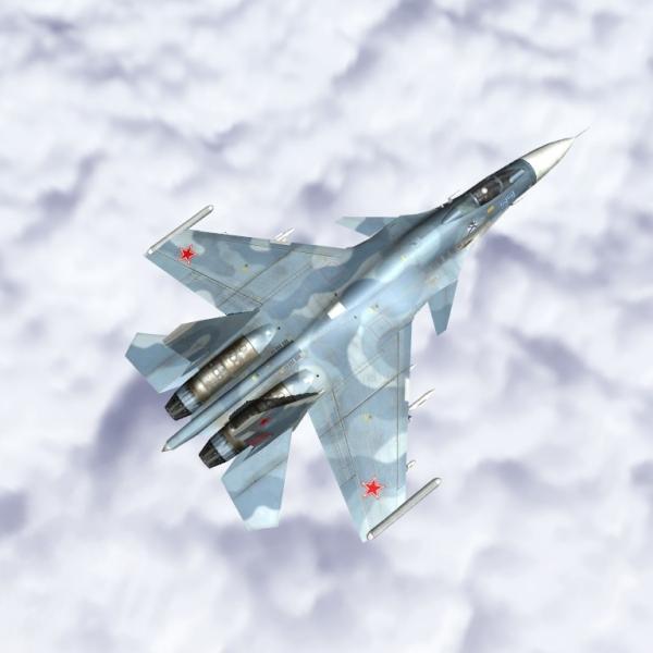 10.Су-33 в полёте.
