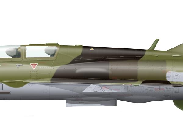 11.МиГ-21УМ ВВС Финляндии. Рисунок.