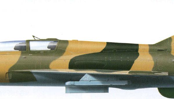 12.МиГ-21УС ВВС Египта. Рисунок.
