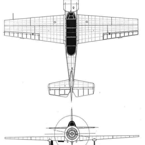 13.Як-52. Схема 1
