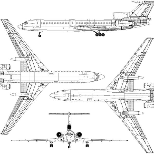 14.Ту-154. Схема.