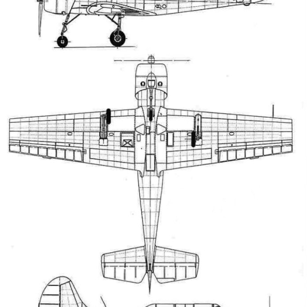 14.Як-52. Схема 2