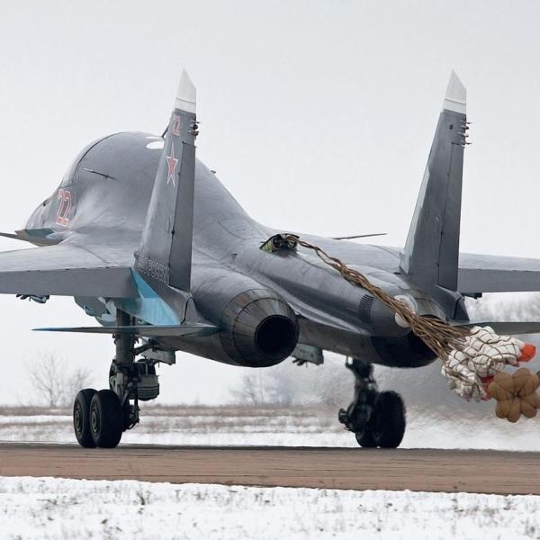 14а.Су-34 после посадки.