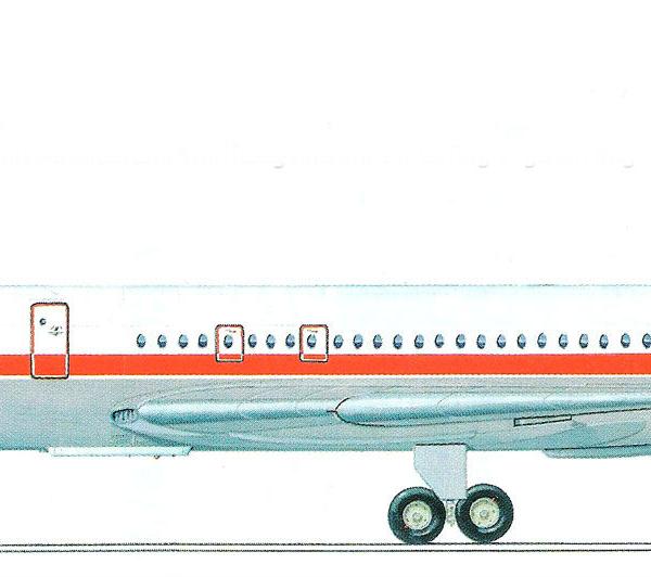 15.Ил-62М ГДР. Рисунок.