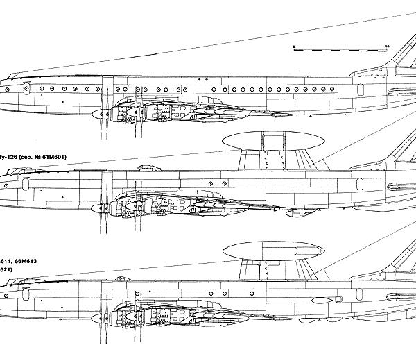 16.Модификации Ту-114. Схема.
