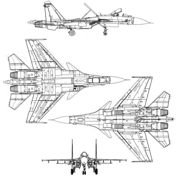 16.Су-27К. Схема 2