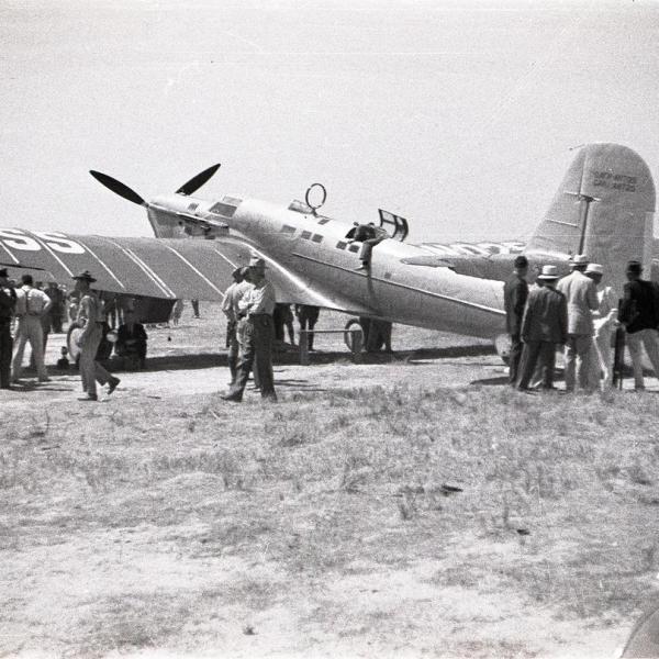 19б.АНТ-25-1 экипажа М.Громова после посадки в США. 2