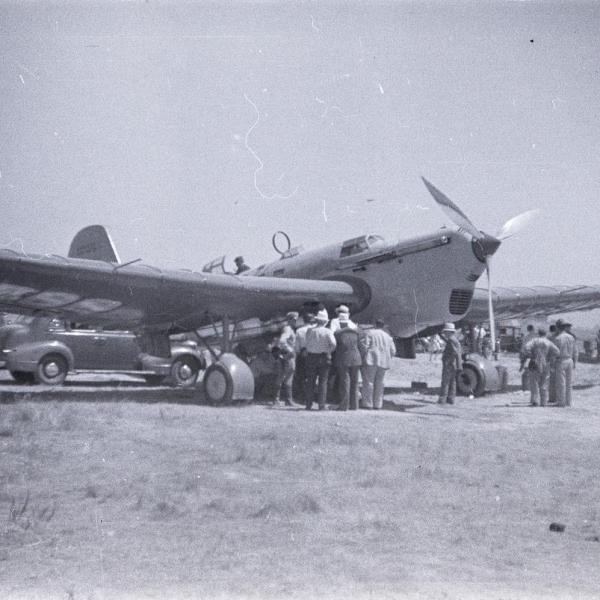 19ж.АНТ-25-1 экипажа М.Громова после посадки в США. 7