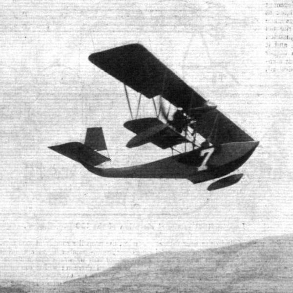 1а.Летающая лодка FBA Type А в полете.