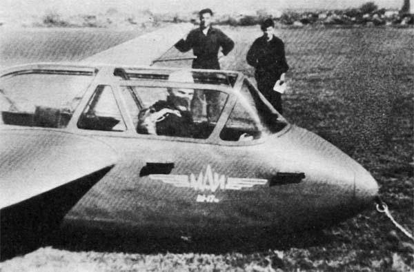 1а.Планер Ш-17М (Ш-18) на старте.