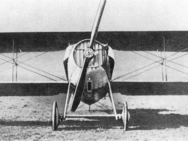 1е.Истребитель SPAD S.VII с жалюзями на радиаторе.