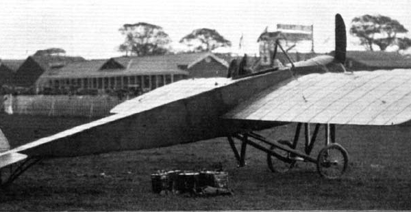 1в.Morane G на полевом аэродроме.