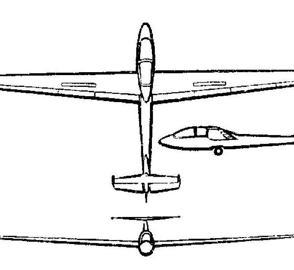 2.Планер СА-7у. Схема