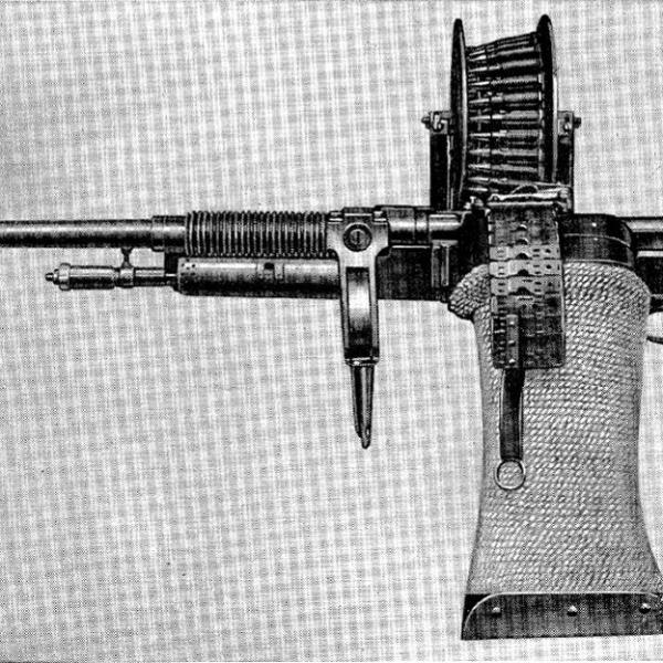 2.Пулемет Hotchkiss Mle.1909 в авиационном исполнении.