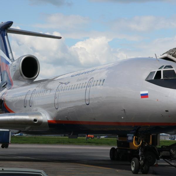 2.Ту-154М в новой ливрее Аэрофлота.