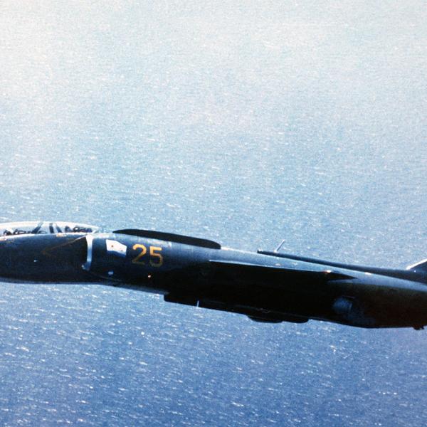 2.Як-38У в полете.