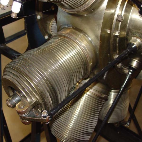 2б.Вид на цилиндры двигателя Gnome Мonosoupape.