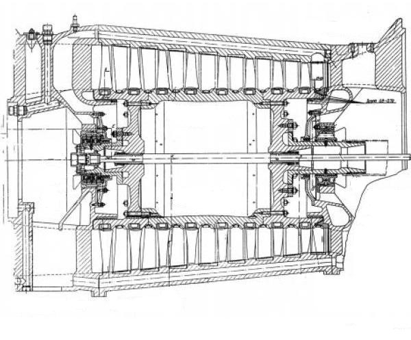 3.Конструктивная схема двигателя ТР-1.