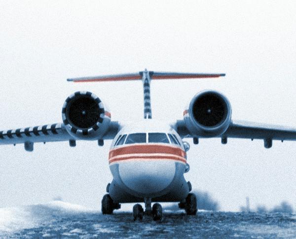 3.Первый опытный Ан-74 на испытаниях.