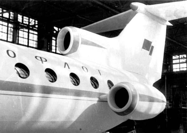 3.Расположение двигателей на Ан-Бе-20.