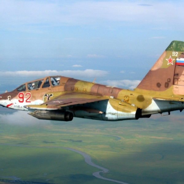 3.Су-25УБ ВВС России в полете.