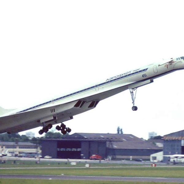 3.Взлет Ту-144 в Ле Бурже.