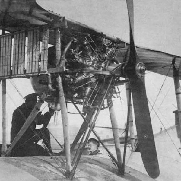 3а.Двигатель Salmson Р9 с радиаторами типа Хазет.
