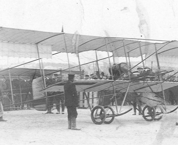 3а.Farman F.VII военной комиссии МОВ (Московского Общества Воздухоплавания). 15 сентября 1912 г.