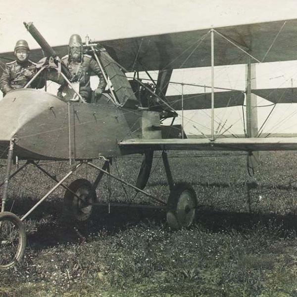 3б.Вуазен LAS русской авиации вооруженный пулеметом максим. 1916 г.