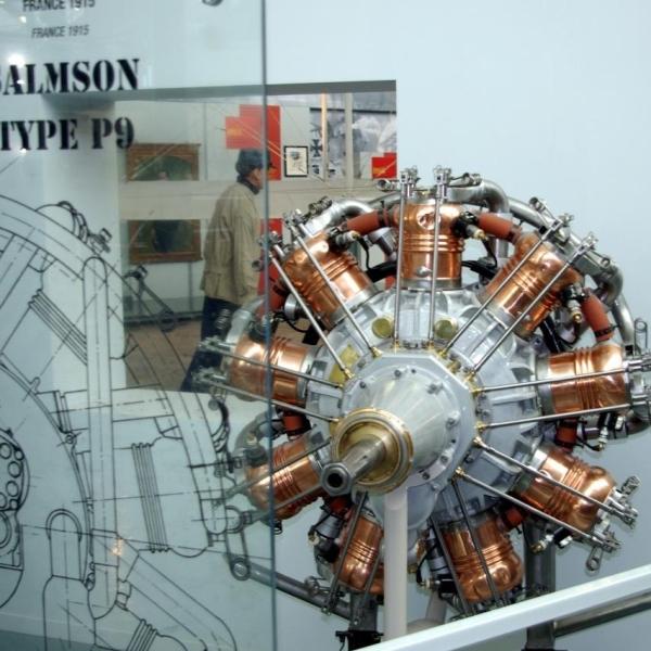 4.Двигатель Salmson Р9 в экспозиции музея.