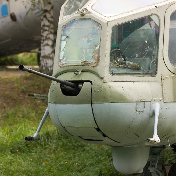 4.Пулемет А-12,7 (ТКБ-481) на вертолете Ми-24А.