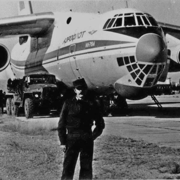 4а.Ил-76М на стоянке.