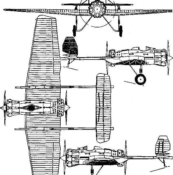 5.И-12 (АНТ-23) с двумя 76-мм пушками АПК-4.
